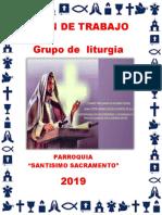 PLAN de TRABAJO Del Grupo de Liturgia 2019
