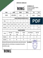 Certificado alambre 0.9mm