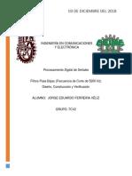 Reporte Filtros PDS