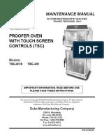 DukeTouch Screen Oven Service Manual (1)