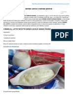 Crema Al Latte Ricetta Senza Uova e Senza Panna