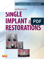 Principles and Practice of Single Implant and Restoration - Saunders; 1 Edition (March 26, 2013)