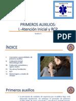 PrimerosAuxilios I PROFOB2016