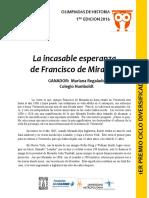 La Incasable Esperanza de Francisco de Miranda