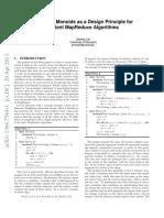 Monoidify! - Monoids as a Design Principle for Efficient MapReduce Algorithms