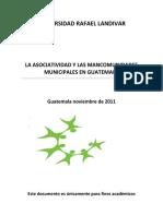 La Asociatividad y Las Mancomunidades Municipales en Guatemala