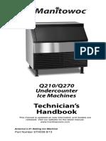 Manitowoc Ice Machine STH038_R290-Undercounter_Handbook