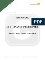 Sujet DCG Finance DEntreprise 2012