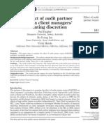 Audit Tenure Partner