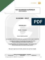 Sujet BTS Economie Droit 2013