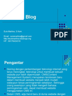 Materi 12 - CMS dan Blog