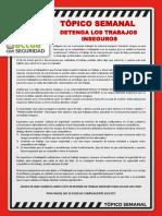 N° 50- DETENGA LOS TRABAJOS