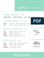 Gertie Beverage Menu