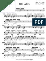 Toto - Africa (Drum Sheet Music)