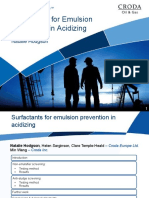 Surfactants for Emulsion Prevention in Acidizing N Hodgson