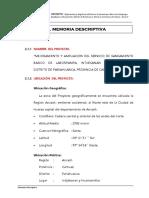 Memoria Descriptiva - UBS Huamanvilca