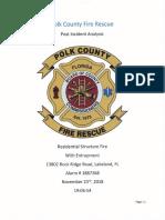 Polk County Fire Rescue report of deadly Nov. 23, 2018, fire