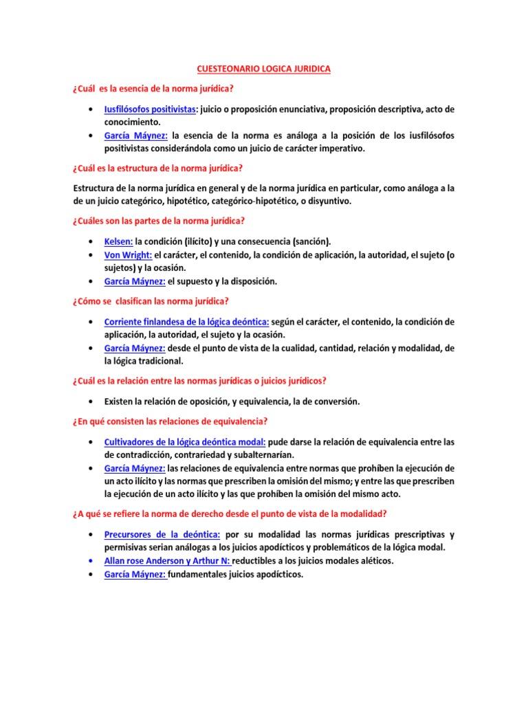 Cuesteonario Logica Juridica 1 Instituciones Sociales