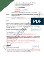 Modelo de Informe Tecnico de La OPMI