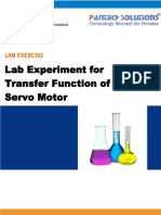 Lab Experiment for Transfer Function of Ac Servo Motor