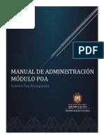 Manual de Administracion(Modulo Poa)