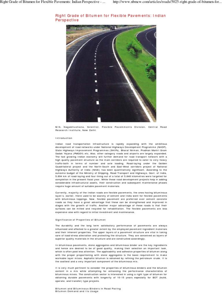 Right Grade of Bitumen for    | Asphalt | Road Surface