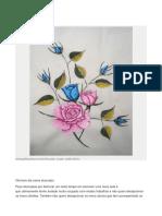 Pinturas de Flores Sobre Tecidos Passo a Passo