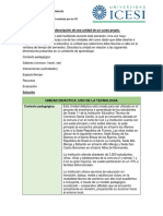 Descripción Unidad Didáctica y Matriz TIM