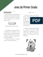 IV BIM - 5to. Año - ALG - Guía 3 - Inecuaciones de Primer Gr