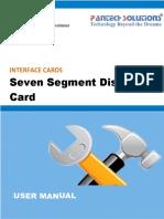 User Manual for Seven Segment Display Card