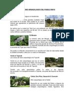 Patrimonio Arqueologico Del Pueblo Maya