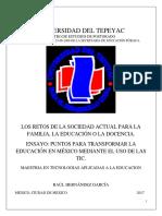 Puntos Para Transformar La Educación en México Mediante El Uso de Las TIC