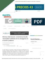 Mínima Intervención_ Ionómeros de Alta Viscosidad Sustitutos de La Amalgama en El Sector Posterior - Gaceta Dental