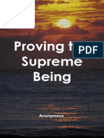 Proving the Supreme Being