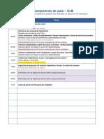 Planejamento PARCIAL Das Aulas - UnB