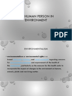 The Human Person in Environment