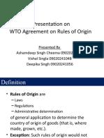WTO Rules of Origin Presentation V1.0
