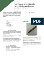 Informe 1 Mecanica de Fractura