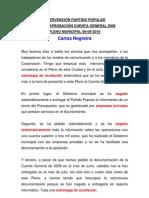 Intervención Carlos Negreira Cuenta General de 2009. Pleno de 16/09/2010.