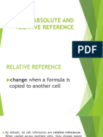 Absolute and Relative Reference Excel 2016