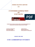 Customer Satisfaction ICICI Bank