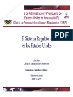El Sistema Regulatorio en Los Estado Unidos.