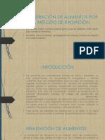 Conseración de Alimentos Por El Método de Radiación-diapositiva