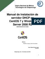 Reporte de Instalacion de Los Servidores en Centos 7 y Windows 2008