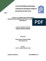 Tesis Celdas de Combustible Microbianas; Generación de Energía Eléctrica Utilizando Aguas Residuales