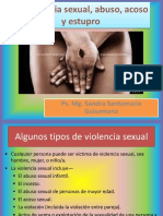 Violencia sexual, abuso, acoso y estupro
