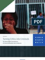 Turning Critics Into Criminals