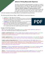 Writig Objectives Abcd2014