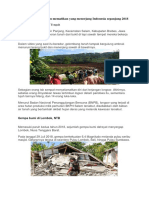 Deretan Bencana Alam Mematikan Yang Menerjang Indonesia Sepanjang 2018