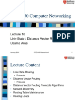 Networking Lec 18 Link-Distance Vector Routing